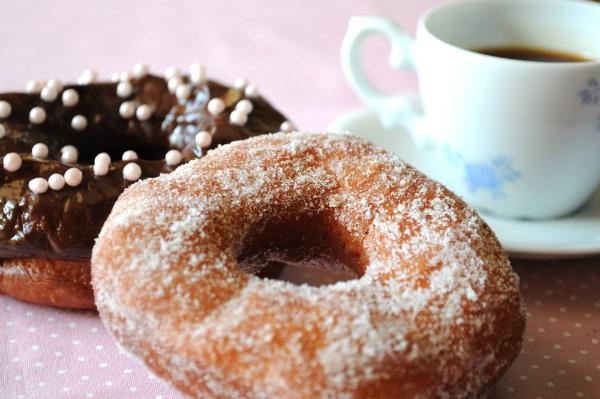 Donuts fritos e macios