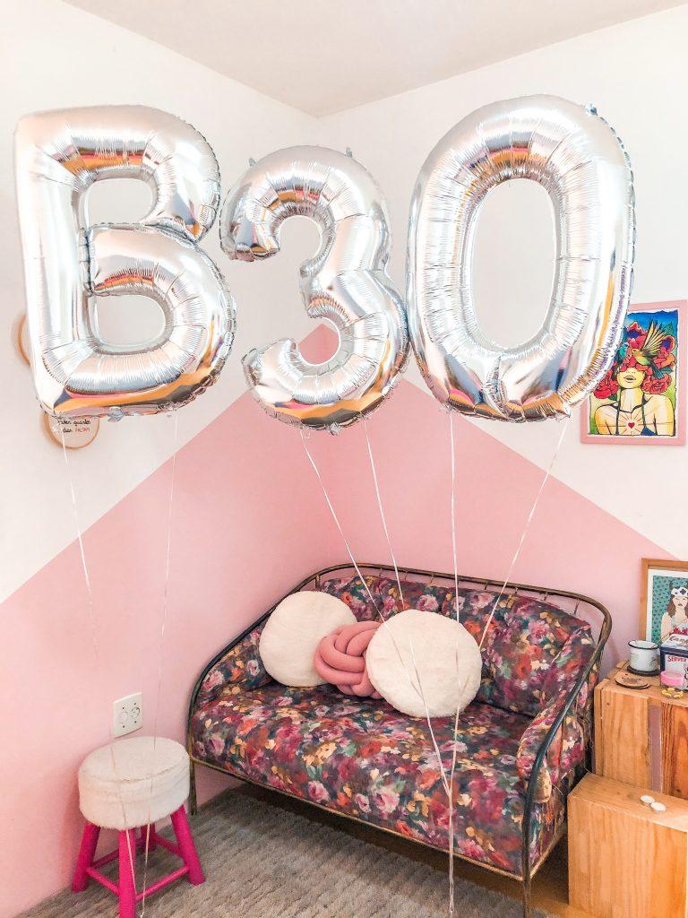Hoje eu faço 30 anos