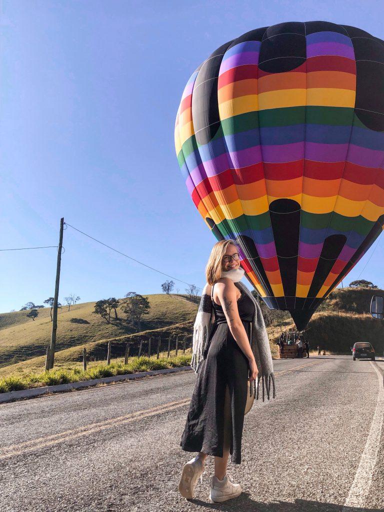 Eu nunca tinha sonhado andar de balão